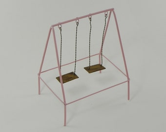 Tire swing miniature accessiories for fairy garden for Mini swing set
