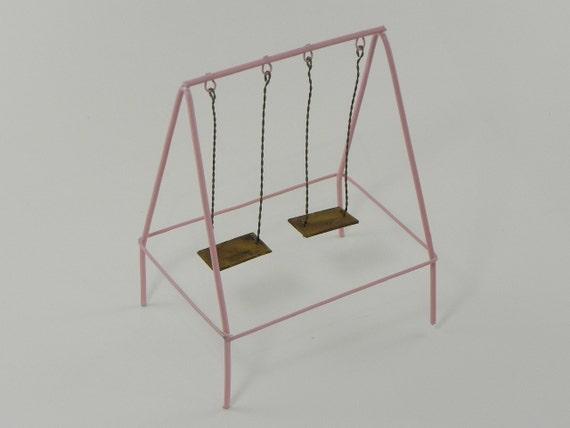 Items similar to miniature swing set fairy garden for Mini swing set