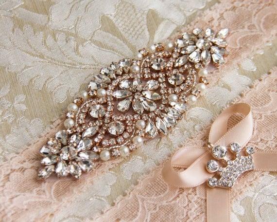 Blush Lace Wedding Garter