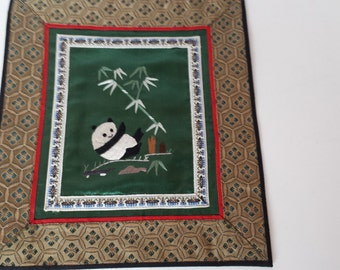 Chinese Embroidery Wall Hanging - Panda