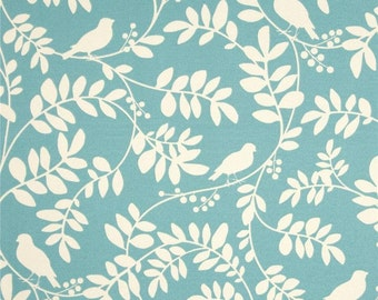 Dwell Studio New Botany Sky Indoor / Outdoor Robert Allen Fabric - One Yard - White and Blue  Outdoor Fabric