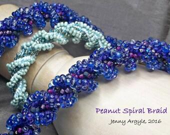 TUTORIAL Kumihimo - Peanut Spiral Braid