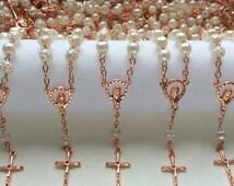 10%off weekend sale 200 Mini Rosaries, Favors, Recuerdos de Bautizo, Baptism, Communion, Wedding Favors