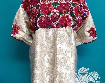 Vintage Guatemala hand embroidered Huipil