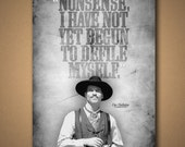 "TOMBSTONE Doc Holliday ""DefileMyself"" Quote Poster"