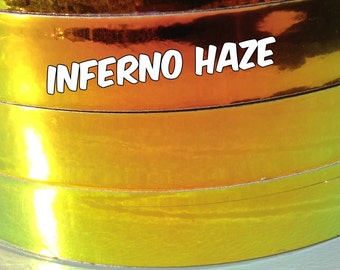 3/4 inch Inferno Haze Metallic Hula Hoop Tape