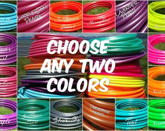 "TWO 50 ft. coils of 3/4"" Colored Polypro hula hoop tubing - You Choose Colors Includes Insert Material"