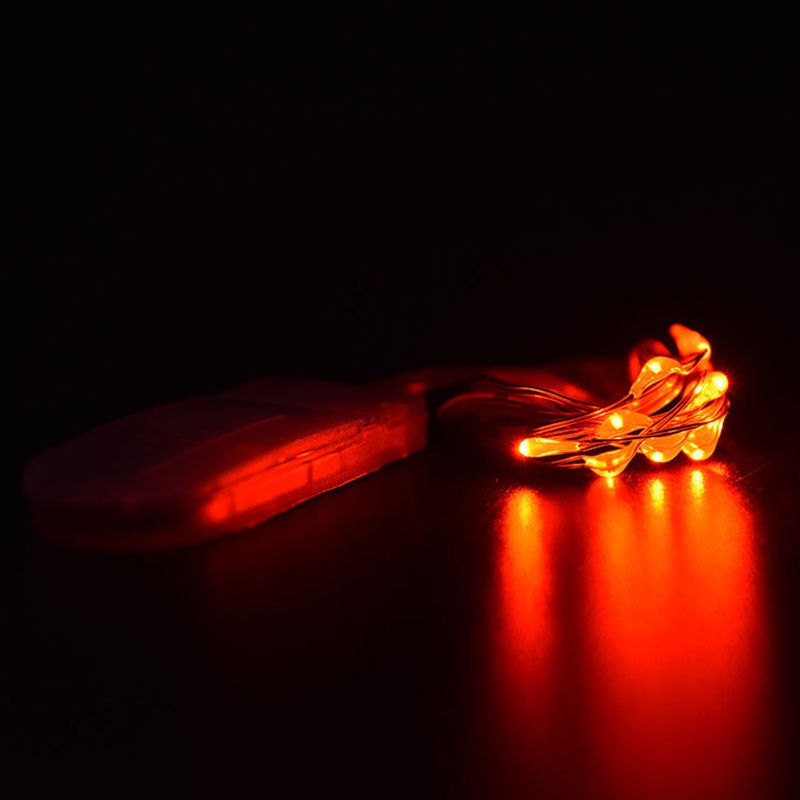 Led String Lights Orange : Orange Fairy Lights LED String Light Button Cell Battery