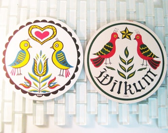 Scandinavian Dutch Zook Hex Signs Birds - 2 Folk Signs included