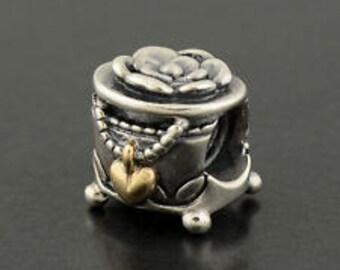 Pandora Sterling Silver 14k Gold PANDORA's Box