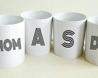 Custom Family Mugs | Mug Set of 4 | Family Christmas Gift | Custom Coffee Mug | Women's Gift | House Warming Gift