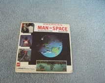 Vintage gaf View Master Stereo Picture Reels America's Man In Space John Glenn's Historic Flight 1962