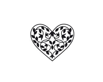 Heart clip art graphic to use on a wedding invitation. Pay, download and use to make your own stationery. Original illustration.