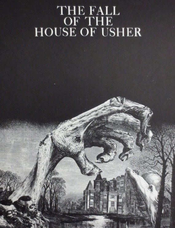 Edgar Allan Poe The Fall Of The House Of Usher Matted Book