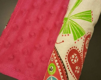 Fun, girly burp cloth