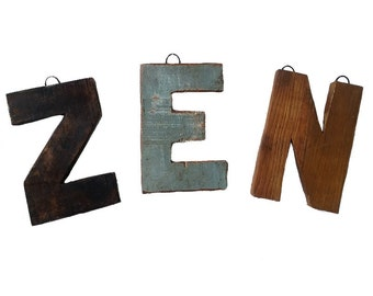 7 Inch Wooden Letter - Wooden Letter for Home Decor - Rustic Wooden Letter, Wood Letter painted, Wood Sign, Wood Wall Art