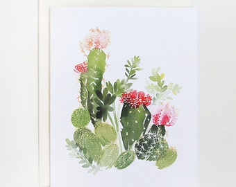 Cactus No. 4 - A2 Greeting Card
