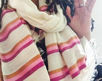 Multicolored Ethiopian scarf/head wrap