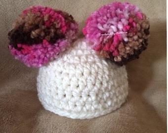 Crochet Pompom Hat