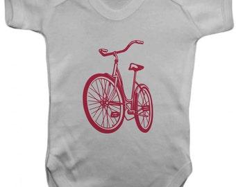 Baby Bike bodusuit -Baby Bodysuit -  Vest,Baby Grow,,Baby One Piece,Baby Clothes,Bodysuit, baby onesie,100% Cotton - Silkscreen