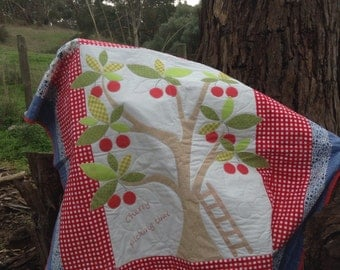 Cherry picking, lap or picnic quilt