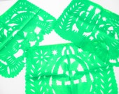 LARGE ALL GREEN Fiesta banners 16 Feet, Wedding decoration, Mexico papel picado, Fiesta Decoration, Birthday Kid, Buy One Get One Free