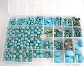 Wholesale Bulk Turquoise Magnesite Variety Shapes & Sizes