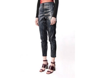 Cigarette Trousers - High waist with pockets