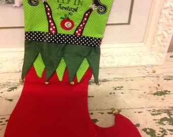 Just elf in around stocking