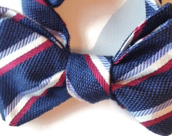 Silk Bow Tie for Men - Patriot - One-of-a-Kind, Handtailored, Self-tie - Free Shipping