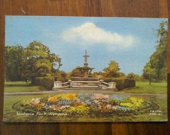 Colour postcard of Victoria Park Fishford 1960s Used.