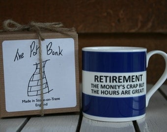 Retirement Fine Bone China Mug
