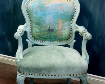 Monet's Sunrise Bergere Chair