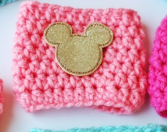 Gold Magical Mouse Coffee Cozy ~ Crochet Coffee Cozy ~ Coffee Cozie ~ Reusable Coffee Sleeve