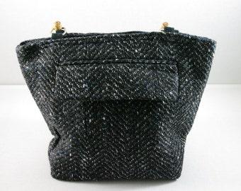 Repurposed men's suit, handbag