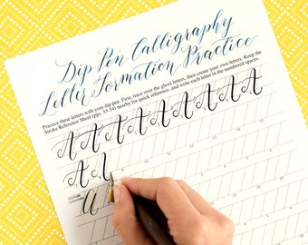 Printable Calligraphy Worksheets : Kaitlin Style {Learn Calligraphy} - 35 Page Set