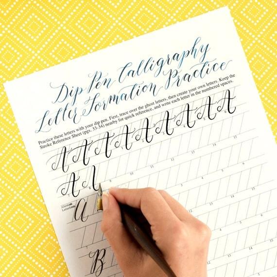 Number Names Worksheets calligraphy worksheets printable : Printable Calligraphy Worksheets : Kaitlin by ThePostmansKnock