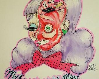 Make Up Your Mind Gore Art Illustration Prints