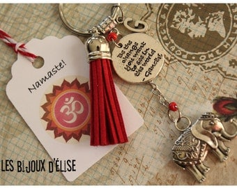 Personalized Be the Change You Want to See Keychain Motivational Bag Dangle