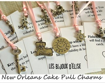 12 pcs New Orleans Wedding Cake Pull Charms (CP02) - Set no 2