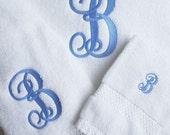 Monogrammed  Cotton 3-Piece Towel Set Wedding, Graduation, Housewarming, Birthday Gift
