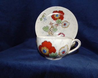 Vintage Crown Ducal Ware Teacup and Saucer
