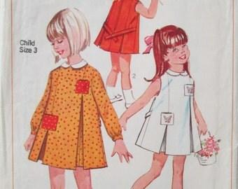 Vintage Sewing Pattern Simplicity 6382 Girls Dress 1965 size 3 Uncut