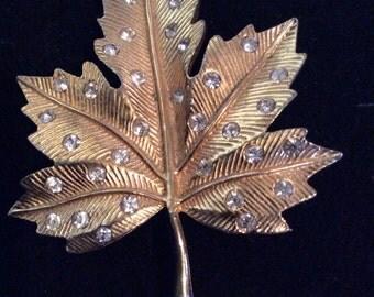 Leaf brooch 2-1/2 in