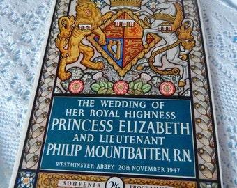 Pitkins Wedding of HRH Princess Elizabeth Lt Mountbatten
