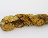 CLEARANCE - Antique Gold - Ultra Sock Yarn - Hand Dyed Sock Yarn