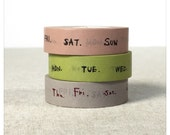 Days of the Week Washi Tape Set 3pk - Classiky
