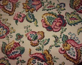 old fabric or vintage large flowers of Indian