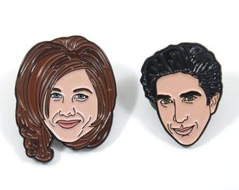 Friends: Ross & Rachel Soft Enamel Pin Pack