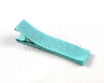 Sea Foam - Set of 5 Fully Lined 45mm Single Prong Alligator Clips - FLC-015